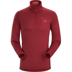 MAN ARC'TERYX RHO AR ZIP NECK RED BEACH
