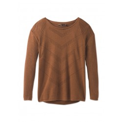 WOMAN SWEATER PRANA MAINSPRING SWEATER BURNT CARAMEL HEATHER