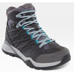 WOMAN BOOTS NORTH FACE HEDGEHOG HIKE II MID GORE-TEX Q-SILVER GRAY/PRCLNGN