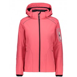 GIACCA DONNA CMP WOMAN JACKET ZIP HOOD CORALLO 3A05396