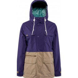 WOMAN SNOWBOARD JACKET NITRO JACKET CYPRESS PURPLE/KHAKI