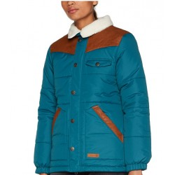 WOMAN SNOWBOARD JACKET L1 PREMIUM GOODS ANCHORAGE JACKET TEAL