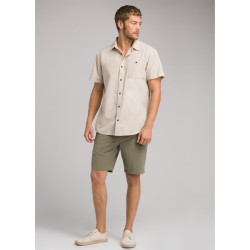 MAN SHIRT PRANA JAFFRA SHORT SLEEVE SHIRT DARK KHAKI