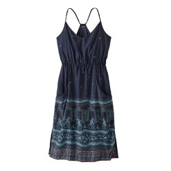 WOMAN DRESS PATAGONIA LOST WILDFLOWER DRESS FOREST SONG NEW NAVY