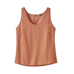 WOMAN TANK PATAGONIA JUNE LAKE TANK BLUFF RIVER SUNSET ORANGE