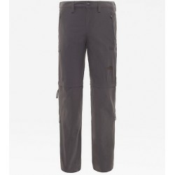 PANTALONE CONVERTIBILE TREKKING UOMO NORTH FACE EXPLORATION CONVERTIBLE PANT ASPHALT GREY