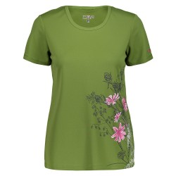 WOMAN T-SHIRT TREKKING CMP WOMAN T-SHIRT 38T6656 KIWI E808