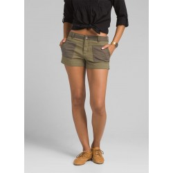 WOMAN PRANA KITTLE SHORT GREEN IGUANA