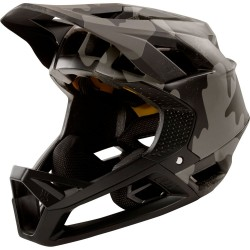 DOWNHILL MOUNTAIN BIKE FOX PROFRAME HELMET BLACK CAMO