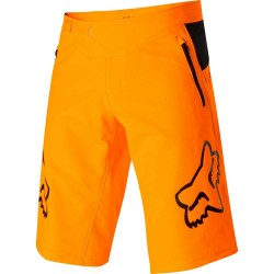 JUNIOR BIKE SHORT DOWNHILL MOUNTAIN BIKE FOX YOUTH DEFEND SHORT ATMC ORANGE