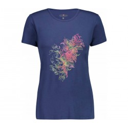 WOMAN T-SHIRT TREKKING CMP WOMAN T-SHIRT 38T6436 MARINE M919