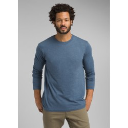 PRANA LONG SLEEVE T-SHIRT DENIM HEATHER