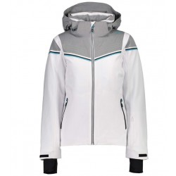 CMP WOMAN SKI JACKET ZIP HOOD 39W1576 BIANCO A001