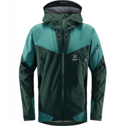 HAGLÖFS GORE-TEX 3L JACKET HAGLÖFS ROC SPIRE MAN JACKET MINERAL/WILLOW GREEN