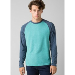 MEN T-SHIRT PRANA BASEBALL RAGLAN AZURITE HEATHER