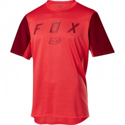 T-SHIRT UOMO BICI DOWNHILL MOUNTAIN BIKE FOX FLEXAIR SHORT SLEEVE MOTH JERSEY BRT RED