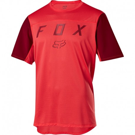 MAN T-SHIRT DH MOUNTAIN BIKE FOX FLEXAIR SHORT SLEEVE MOTH JERSEY BRT RED