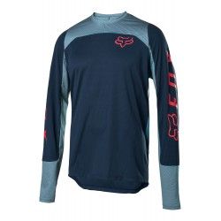 MAN DOWNHILL MOUNTAIN BIKE FOX DEFEND LS JERSEY NAVY