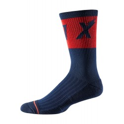 "FOX 8"" TRAIL CUSHION SOCK WURD NAVY"