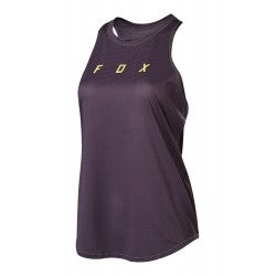 WOMAN MOUNTAIN BIKE FOX FLEXAIR TANK DARK PURPLE