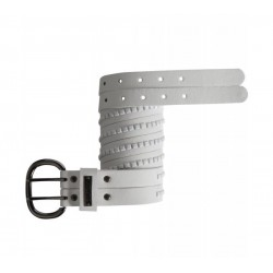 CINTURA DONNA BURTON SUPER STUDDED BELT WHITE