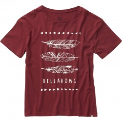 T-SHIRT DONNA BILLABONG BASIC TEE MYSTIC MAROON