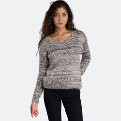 MAGLIONCINO DONNA BILLABONG WARM SAND JUMPER BLACK/WHITE