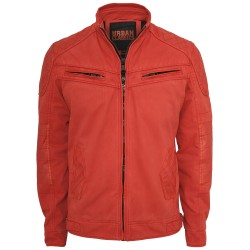 GIACCA URBAN CLASSIC COTTON/LEATHERMIX RACER JACKET