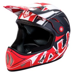 CASCO DOWNHILL KALI AVATAR X HELMET GALAXY BLACK RED
