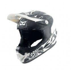 CASCO DOWNHILL KALI NAKA HELMET DARK SPHINX WHITE BLACK