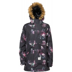 WOMAN SNOWBOARD JACKET L1 PREMIUM GOODS FAIRBANKS JACKET ROSE PRINT