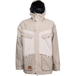 MAN SNOWBOARD JACKET L1 PREMIUM GOODS WINDSOR JACKET SAND