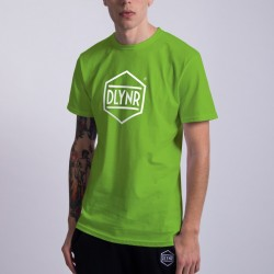 T-SHIRT UNISEX DOLLY NOIRE HEXAGON GREEN APPLE