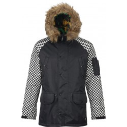 MAN SNOWBOARD JACKET ANALOG FRAZIER JACKET TRUE BLACK / SPEED CHECK
