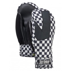 MN SNOWBOARD GLOVE ANALOG GENTRY MITT STOUT WHITE SPEED CHECK