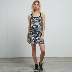 VESTITO DONNA VOLCOM GMJ STRAPPY DRESS BLACK