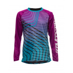 WOMAN ZIMTSTERN ZAHIRAZ LONG SLEEVE BIKE JERSEY FUCHSIA