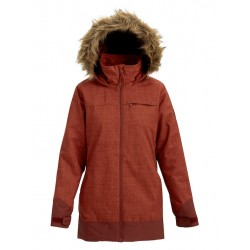 WOMAN SNOWBOARD JACKET BURTON LELAH JACKET SPARROW HEATHER/SPARROW